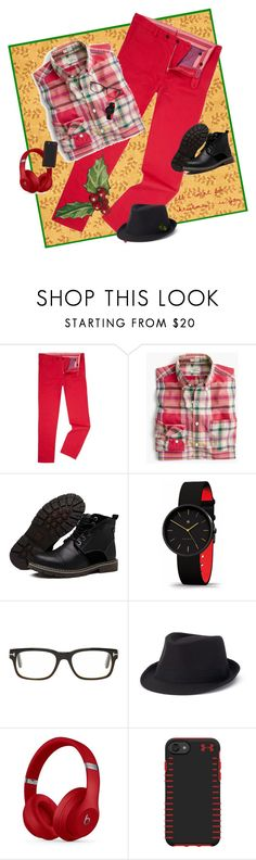 """The Man in Red..."" by kbarkstyle ❤ liked on Polyvore featuring J.Crew, Tom Ford, Urban Pipeline, Beats by Dr. Dre, Under Armour, men's fashion and menswear"