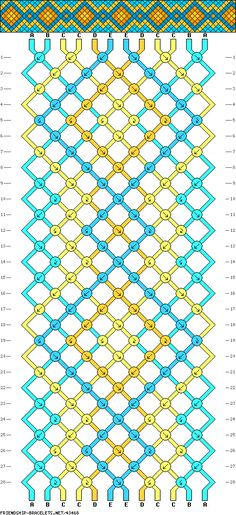 I so want to try this friendship bracelet pattern.