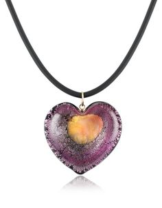 Akuamarina Silver Leaf and Murano Glass Heart Pendant Necklace Heart Shaped Necklace, Silver Pendant Necklace, Silver Necklaces, Jewelry Necklaces, Jewellery Uk, Leaf Pendant, Leaf Necklace, Necklace Designs, Beautiful Necklaces