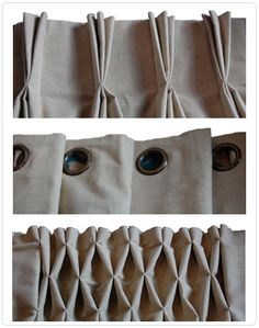 I'm digging the ideas that pleats can spice up some dull curtains!