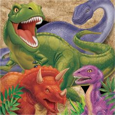 Use our Dino Blast Luncheon Napkins to complete your Dino blast birthday party table! These napkins coordinate with all our Dino Blast party supplies. Each napkin features 4 different dinosaurs. Measures x Includes 16 napkins per package. Dinosaur Party Supplies, Dinosaur Birthday Party, Boy Birthday, Birthday Lunch, Happy Birthday, Birthday Parties, Party Bags, Party Favors, Loot Bags