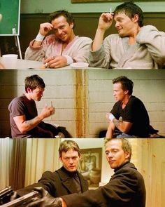 Connor & Murphy MacManus (The Boondock Saints) The Boondock Saints, Sean Patrick Flanery, Murphy Macmanus, Perfect Movie, All Saints Day, Boondocks, Nerd, About Time Movie, Daryl Dixon