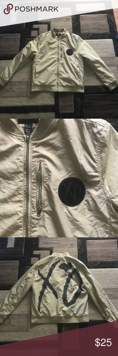 """H&M bomber jacket  """"The Weeknd collection"""" Bomber jacket from H&M size large worn once. H&M Jackets & Coats Bomber & Varsity"""