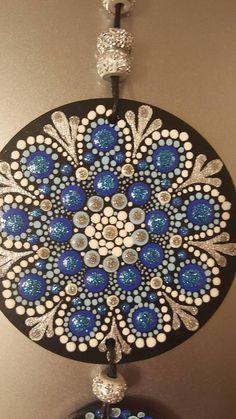 Mandala style handmade accessories car mirror chaine