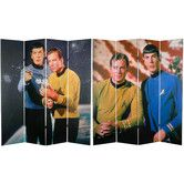 Tall Double Sided Star Trek Kirk and Spock Canvas Room Divider