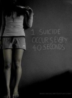 This doesn't have to mean that it's because of bullying but it's still a strong message and bullying is one of the big reasons for suicide.
