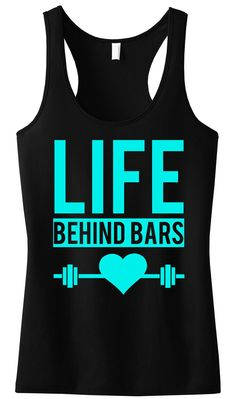 Lift Weights and #Motivate! LIFE BEHIND BARS #Workout tank top by NoBull Woman. Only $24.99 with Free Shipping, click here to buy http://nobullwoman-apparel.com/collections/fitness-tanks-workout-shirts/products/life-behind-bars-workout-tank-top