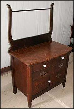 Pictures of Antique Wash Stands Furniture, Wash Basin, Oak Furniture, Vanity, Home Decor, Oak, Wash Stand