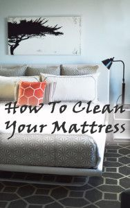 how to clean your mattress