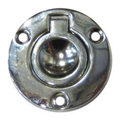 Perko Round Flush Ring Pull - 2 - Chrome Plated Zinc