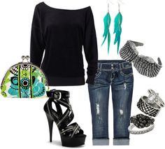 """""""Just Enough"""" by love-caryn on Polyvore"""