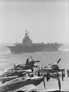 HMS INDOMITABLE from the aircraft carrier VICTORIOUS during the Pedestal Malta convoy. BFD