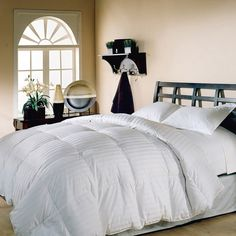 hotel grand oversized 500 thread count damask stripe white down comforter king size as is