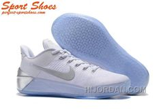 huge selection of 7dd73 cc59d Nike Kobe A.D. Sneakers For Men Low White Silver Cheap To Buy AccB5JY