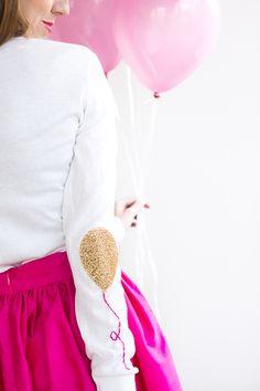 DIY Balloon Elbow Patches