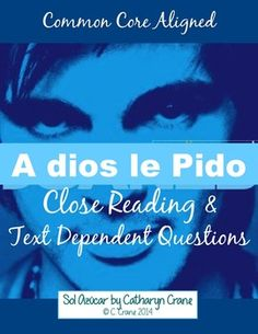 Spanish Common Core Close Reading & Text Dependent Questions through Song! $tpt
