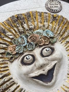Slunce-keramické- ceramic-sun Painting, Art, Art Background, Painting Art, Kunst, Paintings, Performing Arts, Painted Canvas, Drawings