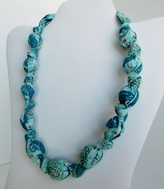 Fabric Necklace Nursing Necklace Statement Necklace by RubyRebels, $11.99