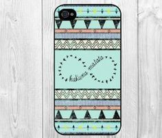 Infinity Hakuma Matata No Worries Custom Aztec Trible Design Snap on Case Protective Cover For Apple iphone 4 4s, iphone 5 5S, iphone 5C