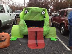 Trunk or treat at church. Got first place!...another cute game for bingo card fish for flys (instead of fish) in pool turn in fly for prize