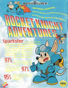 Rocket Knight Adventures for Mega Drive (France, Konami, October 1993) - 2nd version
