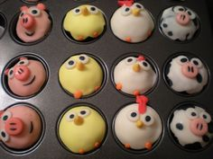 When I saw this I thought of Angry Birds - just make some of them red, blue, yellow, etc. birds along with the pigs :)