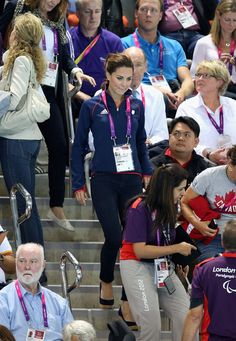 Kate Middleton at Paralympic Swimming | POPSUGAR Celebrity