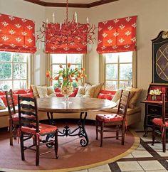 Elegant color in kitchen dining