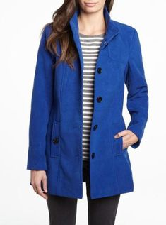 455a1fc9605 I want some sort of peacoat. Long like this but maybe purple