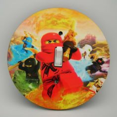 Ninjago Group Light switch Cover 5 Inch Round (12.5 cms) Switch plate Switchplate by Character Creations. $12.00. Beautifully finishes off any room. NOT a Sticker.  Image is heat sealed into the switchplate, therefore is completely washable.. Hardboard with Beautiful Glossy Finish. Large 5 inches (12.5 cms) Lightswitch Cover. Ninjago Group Design. This is a fantastic addition to any bedroom, recroom or office and is made from hardboard, with a glossy front.  Thi...