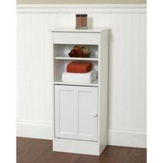 Buy Zenith Products Wood Floor Stand High Storage Cabinets Designed for the Bathroom with Adjustable Shelf, White Finish - Reviewhomkit.com ✓ FREE DELIVERY possible on eligible purchases