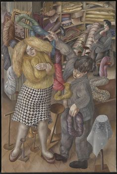 Spencer, Stanley - 1939 The Woolshop (Tate Gallery, London) Stanley Spencer, Lucian Freud, Harlem Renaissance, Dame Mary, Wool Shop, Yarn Shop, English Artists, British Artists, Famous Artists
