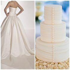 Pronovias Georgia trouwjurk met bruidstaart combinatie van www.honeymoonshop.nl