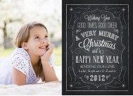 Christmas Blackboard Christmas Card  @Julie Snider