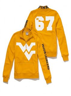 West Virginia University Half-Zip Pullover - Victoria's Secret PINK® - Victoria's Secret