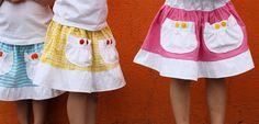Market skirt  And a similar tiered skirt tutorial here: http://www.kukyideas.com/journal/2006/07/tiered-skirt-tutorial.html