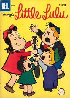 Little Lulu Dell Silver Age Comics Old Comic Books, Vintage Comic Books, Vintage Comics, Comic Book Covers, Comic Book Characters, Classic Comics, Classic Cartoons, Classic Tv, Funny Toons