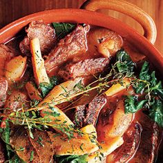 Full-flavored beef stew.Cubed beef roast with vegetables and tomato sauce cooked in slow cooker.