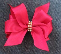 Laço Duplo-Duplo de Cetim: Faça você mesma - DIY Double Satin Ribbon Bow...