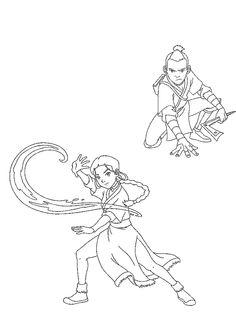 Avatar Tegninger til Farvelægning. Printbare Farvelægning for børn. Tegninger til udskriv og farve nº 15
