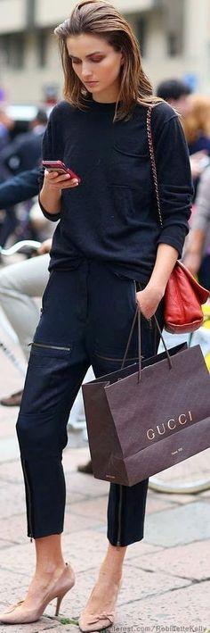 Plain Black T-shirt with pajama!