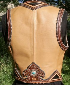 Custom Western Leather and Silver Halters Vests etc Denice Langley Western Outfits Women, Coat Pattern Sewing, Country Wear, Equestrian Outfits, Leather Vest, Leather Projects, Custom Leather, Western Wear, Leather Working