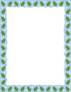 A page border featuring Christmas trees. Free downloads at http://pageborders.org/download/christmas-tree-border/