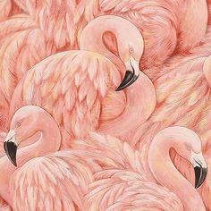 Vinyl Tapete Rosa Flamingos 823820 in Möbel & Wohnen, Dekoration, Wandtattoos & Wandbilder | eBay!