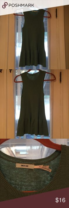 Kimchi Blue Flowing Green Sleeveless Top Really gorgeous, casual green top with a peplum feel to it. Urban Outfitters Tops