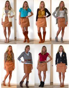 How to Wear: Camel Skirt