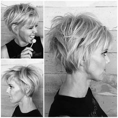 Pixie Cut Pixie cuts are one of the most popular and fashionable in the last years. Most women hesitate but pixie will give you a different vibe and make you attractive Cute Pixie Cuts, Long Pixie Cuts, Long Pixie Bob, Short Shaggy Bob, Short Shaggy Haircuts, Pixie Bob Haircut, Best Pixie Cuts, Haircut Short, Hairstyles Haircuts