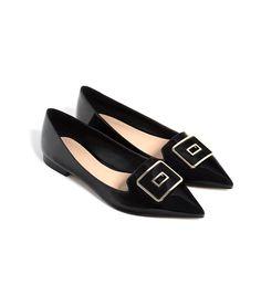 Zara Pointed Ballet Flats With Buckle Fab Shoes, Pump Shoes, Shoe Boots, Pumps, Women's Shoes, Olivia Palermo, Pointed Ballet Flats, Zara Flats, Fashion Shoes