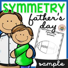 Father's Day: FREE Father's Day Symmetry drawing. Symmetry drawing is the perfect way to use art to introduce math and geometry to elementary grades! Father's Day Symmetry Drawings can be used to teach elementary students about symmetrical and asymmetrical shapes and objects in a fun and easy to explain way. Symmetry Activities, Father's Day Activities, Drawing Activities, Elementary Teacher, Elementary Education, Math Classroom, Classroom Activities, Kindergarten Worksheets, In Kindergarten