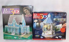 Puzz 3D Lot of 2 Puzzles  Catherine House Thomas Kinkade Painter of Light Gazebo #Wrebbit